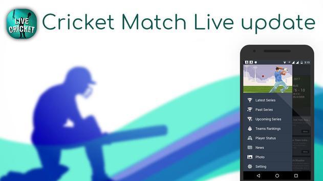 Live Cricket Score & News poster