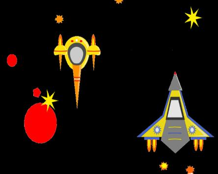 Enemy Starship Attack Free apk screenshot