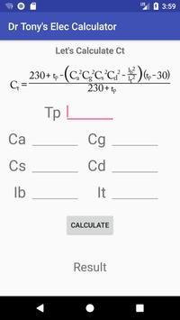 Dr Tony's Electrical Services Calculator apk screenshot