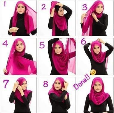 Gaya Hijab Segi Empat Terbaru Hijabfest