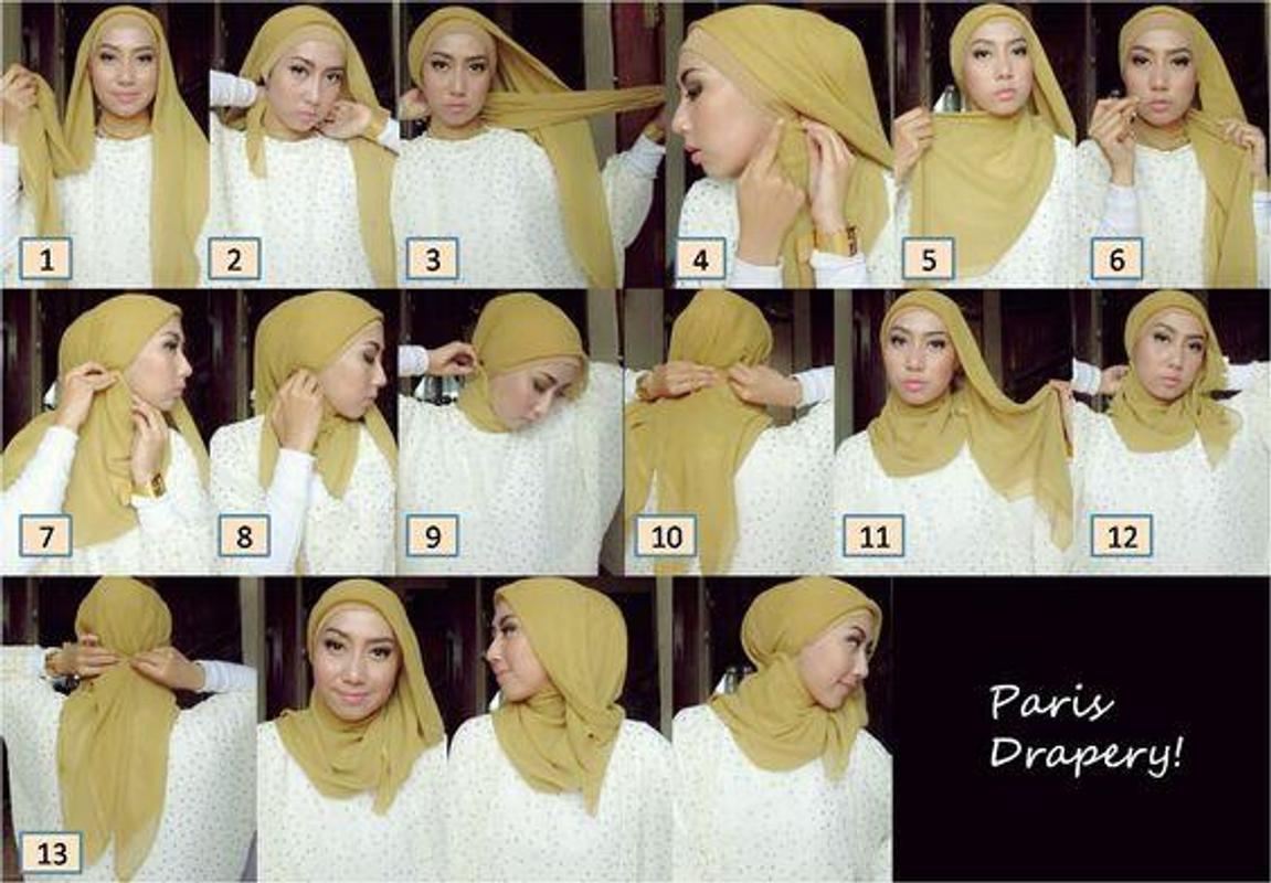 tutorial hijab paris simple for android - apk download