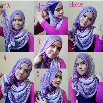 Tutorial Hijab Segi Empat screenshot 1