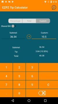 EZPZ Tip Calculator apk screenshot