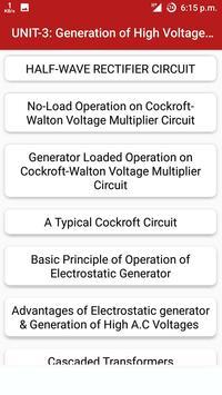 High Voltage Engineering screenshot 5