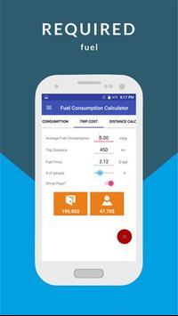 Calculate fuel consumption apk screenshot