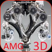 Engine V12 AMG Video Wallpaper icon