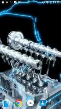 Engine V12 AMG Video Wallpaper poster