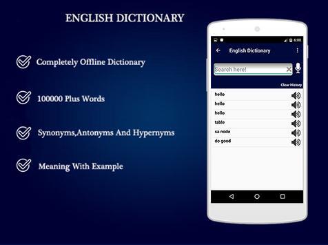 English to English Dictionary - Offline apk screenshot