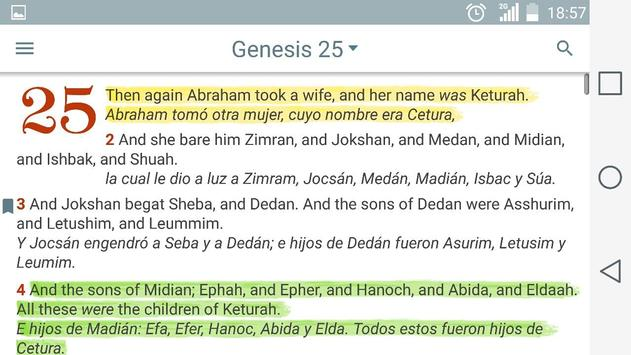 English Spanish Bible screenshot 8