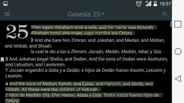 English Spanish Bible screenshot 10