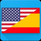 English to Spanish Translation Voice Text 图标