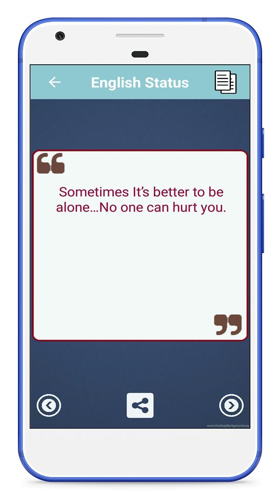 1000+ Feeling Alone Sad Status in English for Android - APK