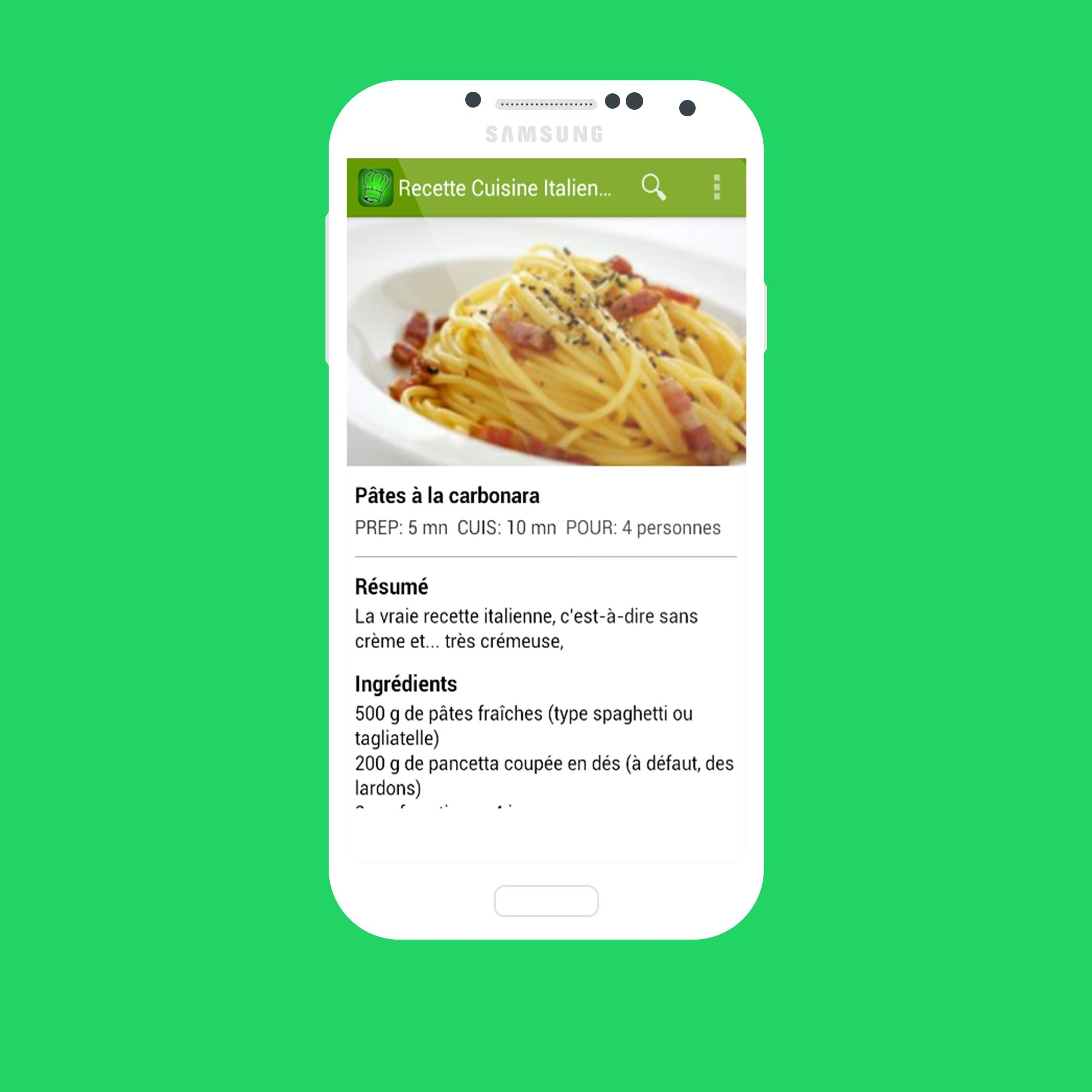 Recette Cuisine Italienne For Android Apk Download