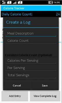 Calorie Track apk screenshot