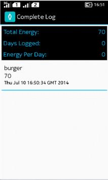 Energy Tracker apk screenshot