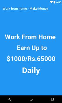 Work at Home - Make Money 2017 2018 screenshot 1