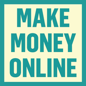 How to make money online - Work from home icon