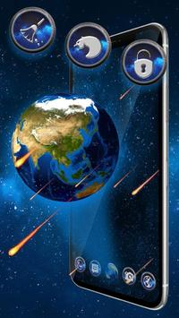 3d Earth Meteor Theme poster