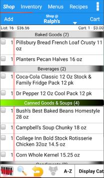 Grocery Tracker Shopping List poster