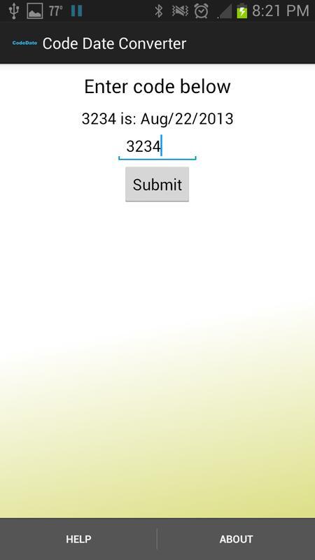 Code Date Converter Poster Screenshot 1