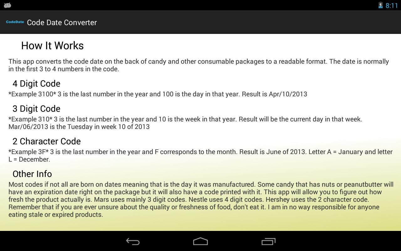 Code Date Converter Screenshot 4