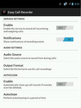 Easy Call Recorder screenshot 1