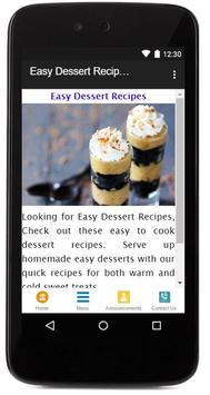 Easy Dessert Recipes poster