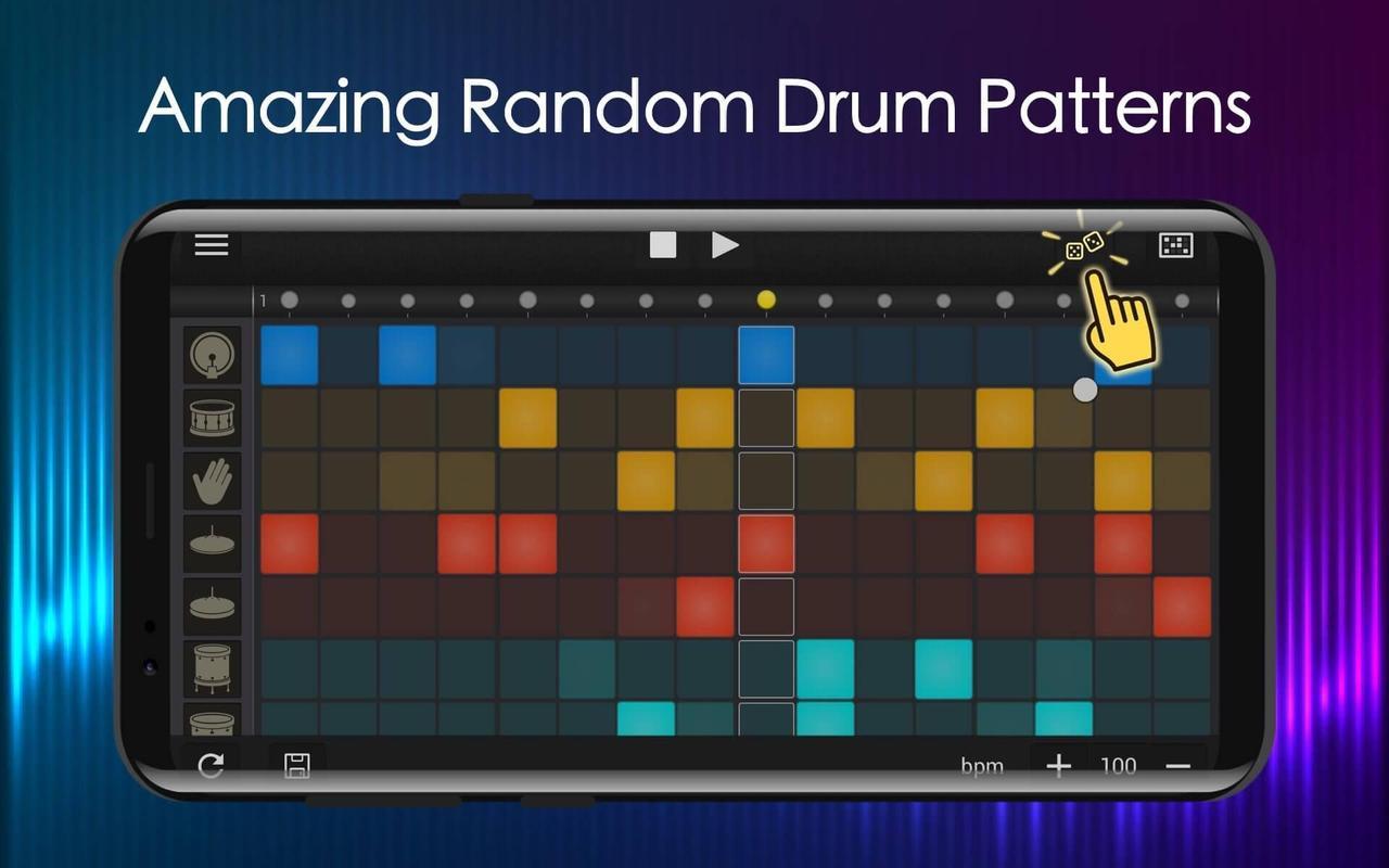 easy drum pad beat machine drum maker for android apk download. Black Bedroom Furniture Sets. Home Design Ideas