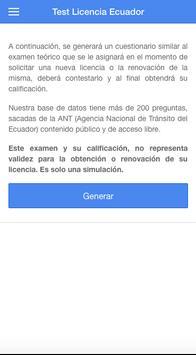 Test licencia Ecuador poster