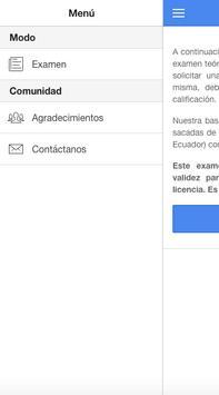 Test licencia Ecuador apk screenshot