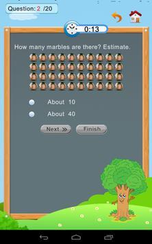Grade 1 Math: Estimation apk screenshot
