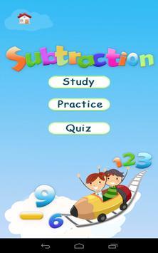 Grade 1 Math: Subtraction poster