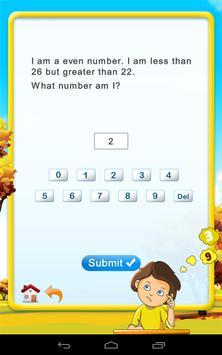 2nd Math: Guess the number screenshot 2