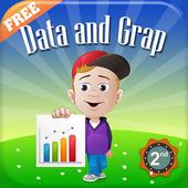 Grade 2 Math: Data & graphs icon