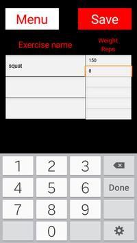 Basic Workout Logs apk screenshot