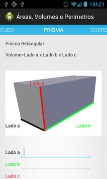 Área, Volumes e Perímetros apk screenshot