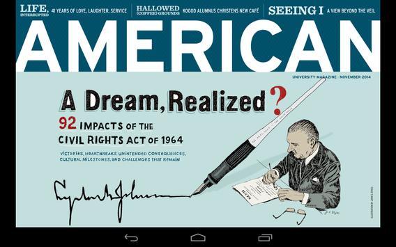 American magazine poster