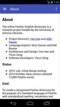 Pashto English Dictionary screenshot 2