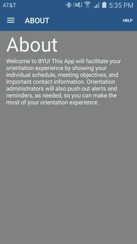 BYU New Student Orientation apk screenshot