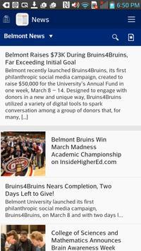 Belmont University screenshot 1