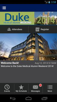 DukeMed Alumni Weekend 2014 poster