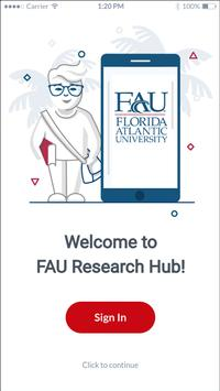 FAU Research Hub poster