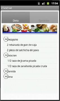 Click & Diet - Elige tu dieta apk screenshot