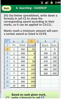 DSE ICT EXCEL Summary (ENG) apk screenshot