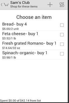 GroceryDroid apk screenshot