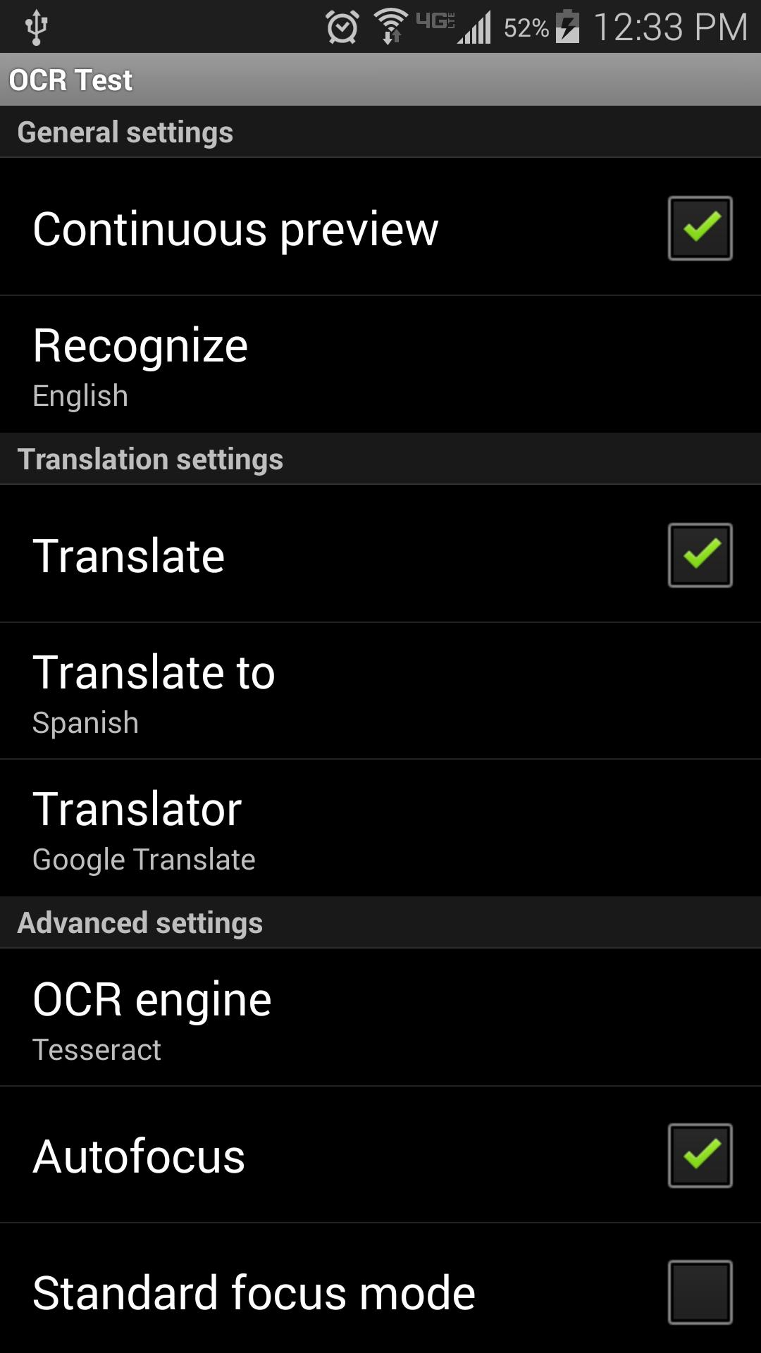 OCR Test for Android - APK Download