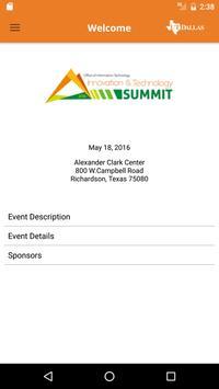 UTDallas IT Summit poster