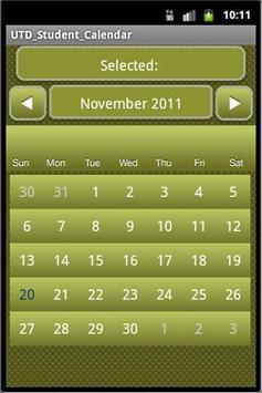 UTDallas Student Calendar poster