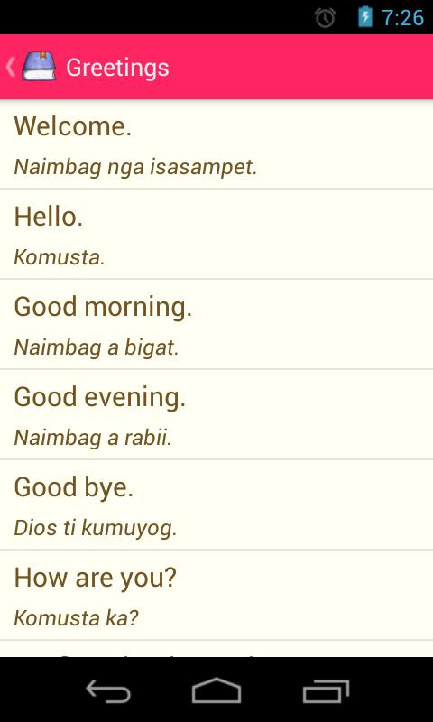 Popular Translated Ilocano Phrases | Asdela