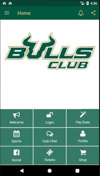 USF Bulls & Varsity Club poster